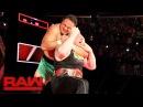 Samoa Joe traps Brock Lesnar in the Coquina Clutch Raw June 26 2017