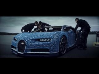 Полноразмерная копия Bugatti Chiron из Lego