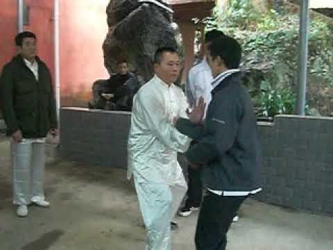 Ji-shou: one of Yu Shifu's disciples vs one of karate guests