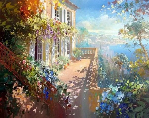 французский художник пейзажист Лоран Парселье