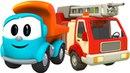 Грузовичок Лева — Мультики — Лева собирает пожарную машинку