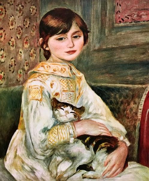 «Жюли Мане (Девочка с кошкой)», Огюст Ренуар