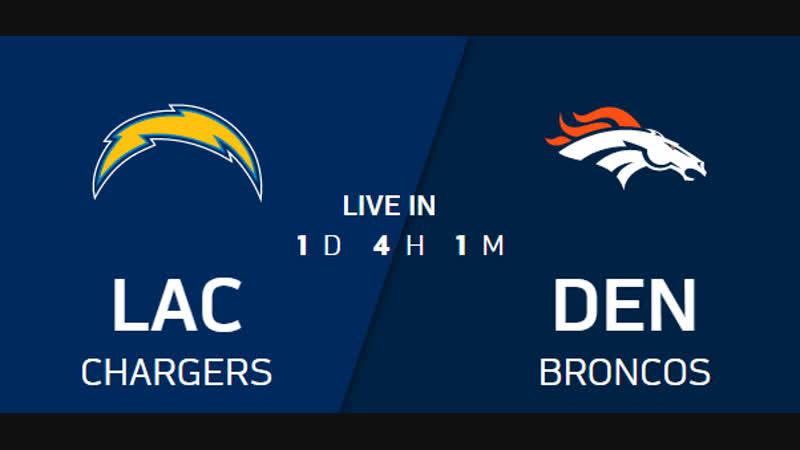 NFL 2018 / Week 17 / CG / Los Angeles Chargers - Denver Broncos / EN