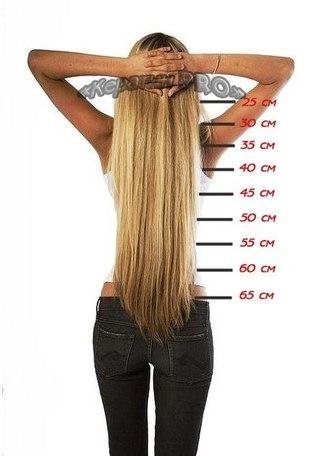 Какой длины нарощенные волосы