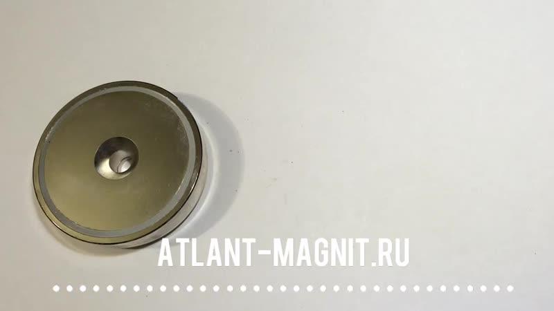 Магнитные крепежи с отверстием и зенковкой тип A