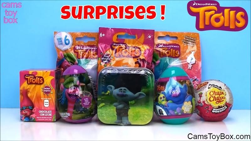 Dreamworks Trolls Surprise Toys Series 6 Blind Bags Chocolate Egg Tin Chupa Chups Fashion Tags