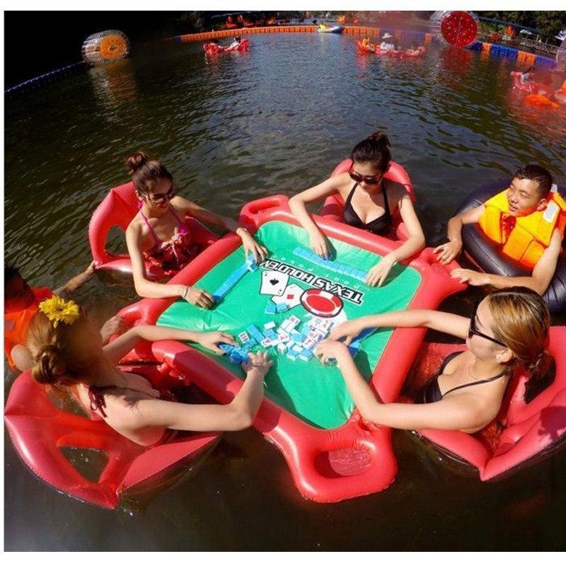Надувной стол для настольных игр на воде -