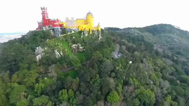 Дворец Пена в г Синатра ряд с г Лиссабон Португалия