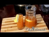Caribbean Drink Carrot &amp Ginger &amp Lemon Served With ice