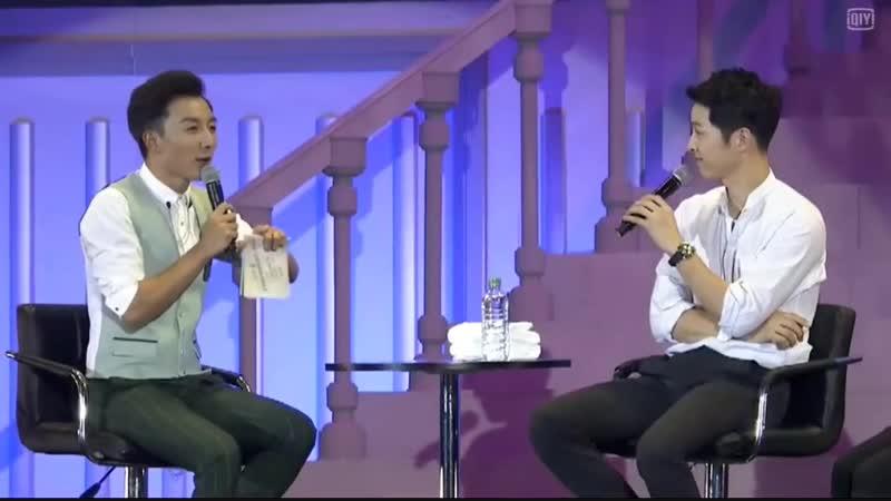 160514 송중기 Song Joong Ki FM talk about DOTS Wine Kiss NG with Song Hye Kyo 송혜교 키 (1)