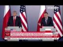 Wystąpienie prezydentów Polski Andrzeja Dudy i USA Donalda Trumpa 06 07 17