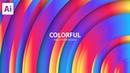Colorful Wallpaer Design In Adobe Illustrator