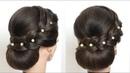 Simple Bun Updo Hairstyle For Long Hair Tutorial