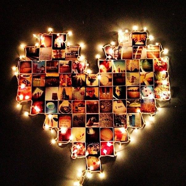 коллаж из фотографий в виде сердца онлайн