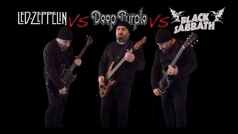 Led Zeppelin VS Deep Purple VS Black Sabbath Guitar Riffs Battle