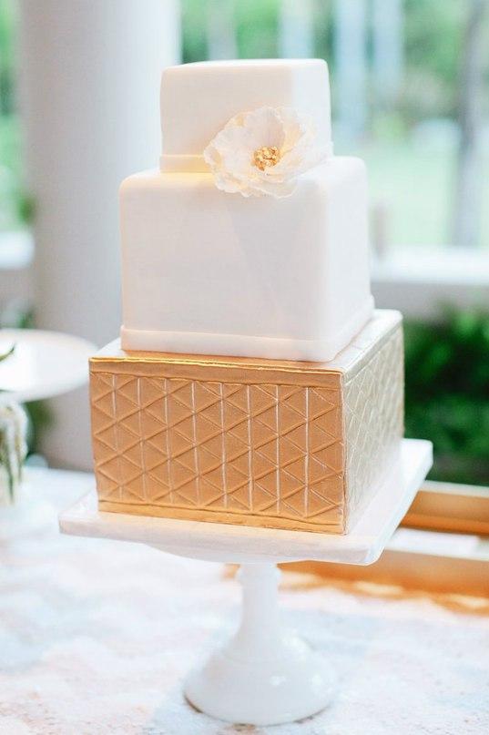 uIARBoPJgWY - Золотые и серебряные свадебные торты 2016 (70 фото)