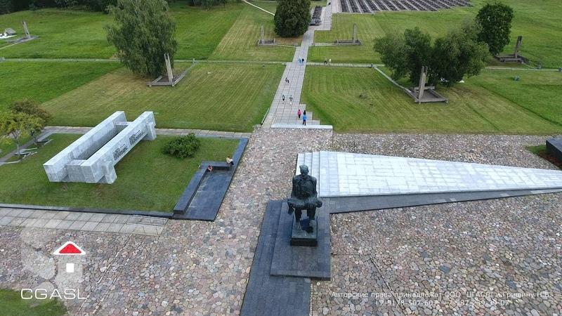 Аэросъемка Мемориальный комплекс Хатынь (Беларусь)/The memorial complex Khatyn (Belarus)