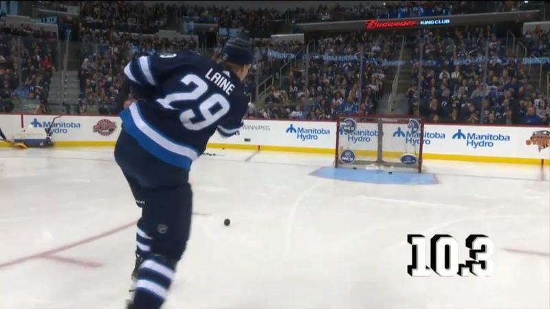 Patrik Laine Sniper Skills in 2019 Winnipeg Jets NHL Skill Competition