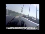 Шторм ветер 7-8 баллов Азовское море вид с одиннадцати метровой яхты