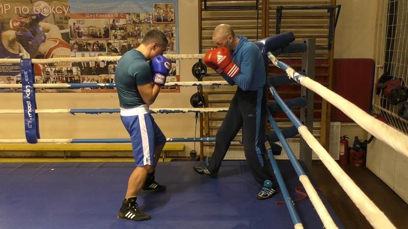 Бокс как выйти из угла, если соперник давит...