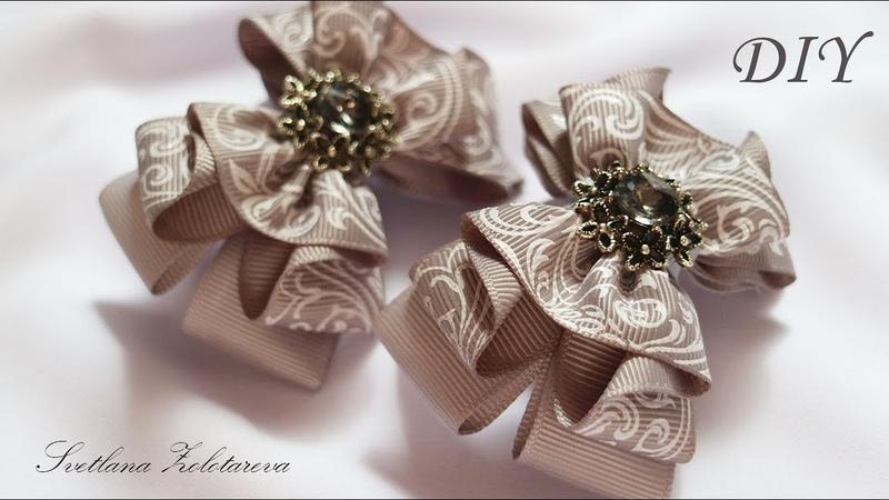 Бантики Из Лент 🎀 Резинки Для Волос👧 DIY Ribbon Bow🎀