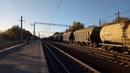 Электровоз ВЛ82М 055 с грузовым поездом следует по перегонуЛюботин Люботин Західний