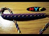Урок №12. Как плести фенечки косым плетением по схеме. Парное количество нитей.