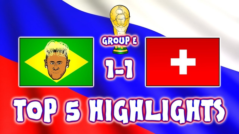 ⚽BRAZIL vs SWITZERLAND!⚽ Top 5️⃣ Highlights (1-1 Zuber Coutinho goal Jesus penalty World Cup 2018)