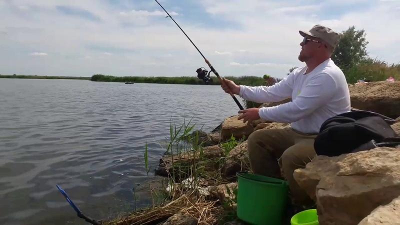 Бородатая рыбалка на пикер вкомпании Роберта Шириц Малая Кугульта 18,06,2017