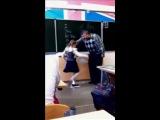 Russian girl kicked teachers balls