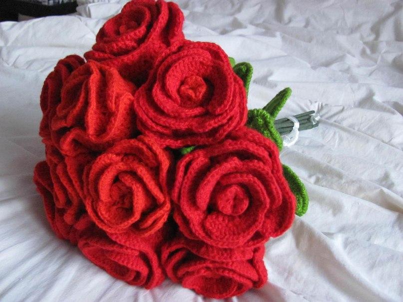 Вязаные букеты цветов своими руками