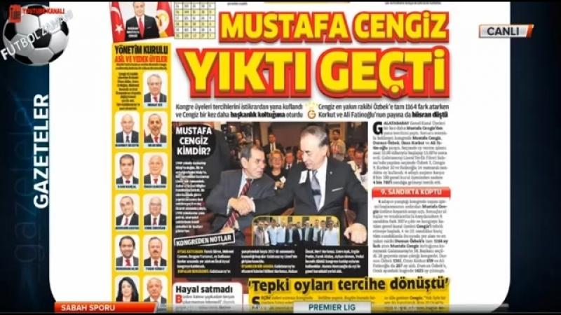 GALATASARAY Sabah Sporu - Mustafa Cengiz 3 Sene Daha Başkan Oldu 27 Mayıs 2018