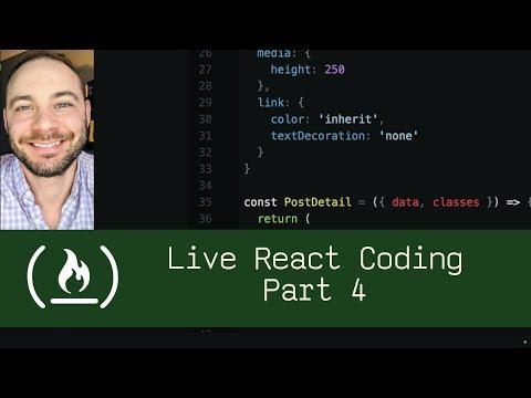 Live React Coding Part 4 (P5D97) - Live Coding with Jesse