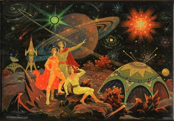 Необычная работа «Звезда Гагарина» автор: Виктор Блинов, 1960-е.