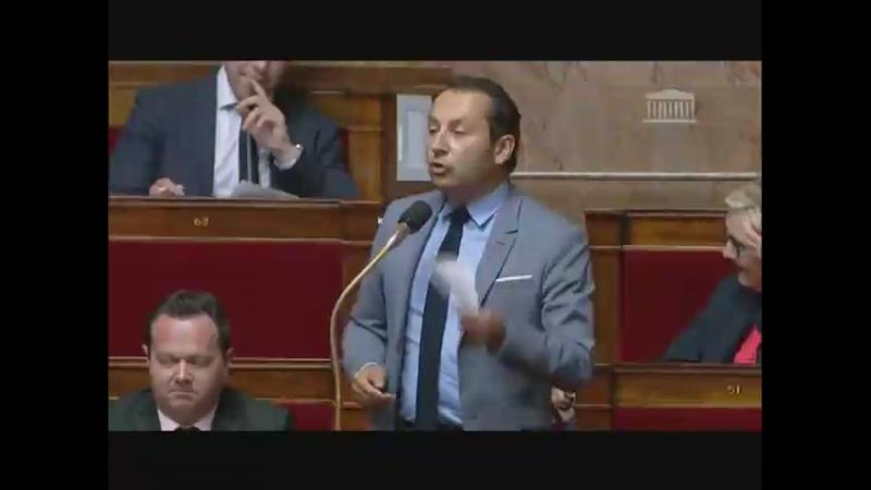 Sébastien Chenu (Rassemblement National) à l'AN pour débattre le projet de loi dictatorial fake-news du gouvernement