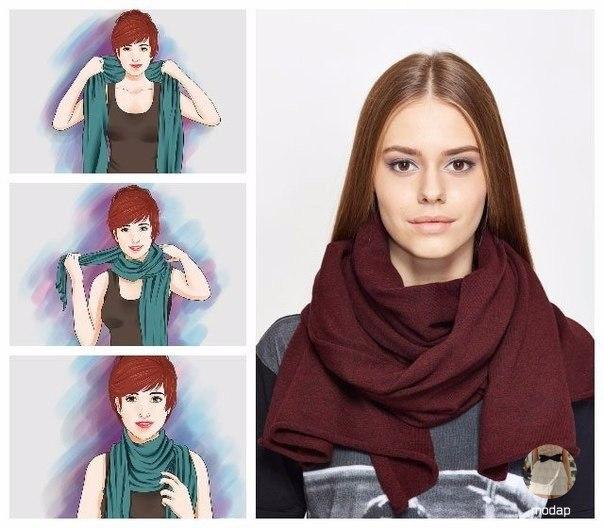 Семь способов носить шарф этой осенью (7 фото) - картинка
