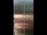 Спуск на лифте в Останкино. Скорость 26 км/ч.