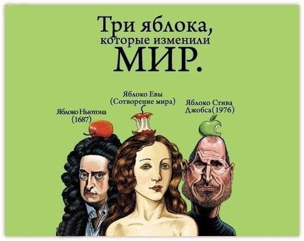 три яблока,которые изменили мир)