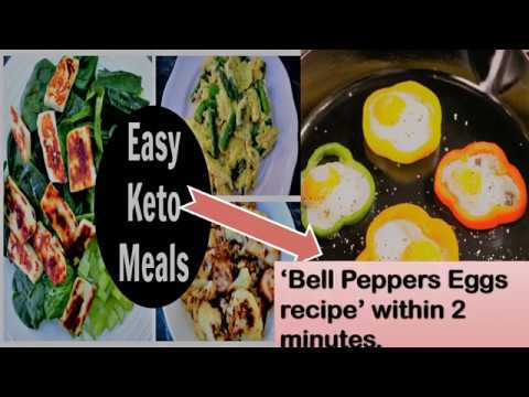 How to make Keto diet meal in 2 minutes| Quick keto diet recipe with 'bell peppers eggs just 2 mins
