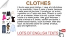 Clothes   Lots of English Texts with Audio