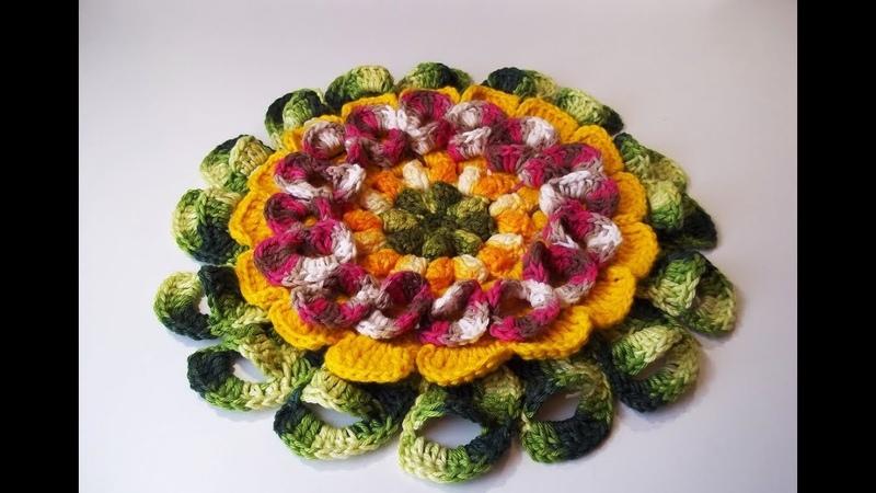 Flor Ella crochesmagdafaria floremcroche semprecírculo paz