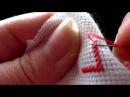 Вышивка крестом: Процесс вышивки крестом для начинающих / Мой метод вышивки крес