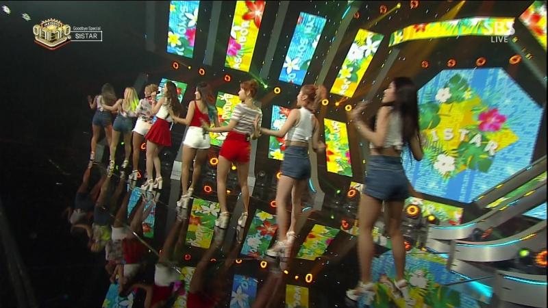 SISTAR - Shake ItI SwearTouch My BodyLonely [SBS Inkigayo 170604]