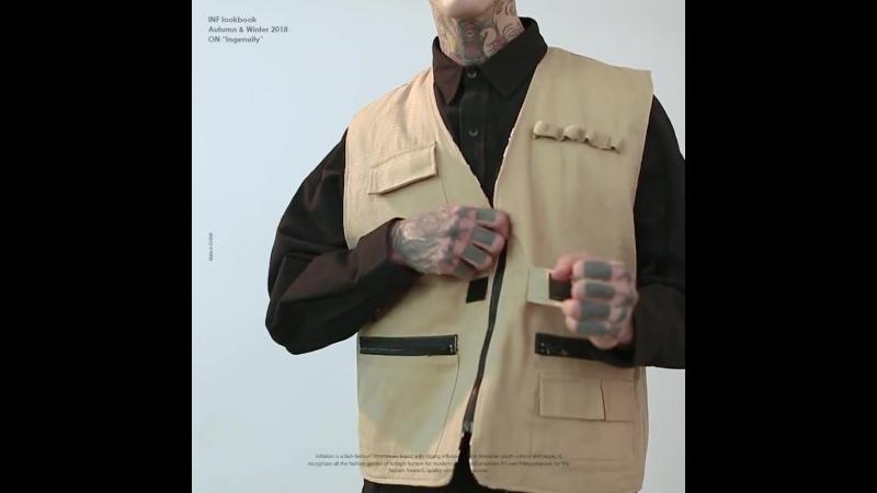 INFLATION 2018 New Hip Hop Streetwear Vest Coat Men's Streetwear Vest High Street Waistcoat Pockets Vests Reversible vest 8770W