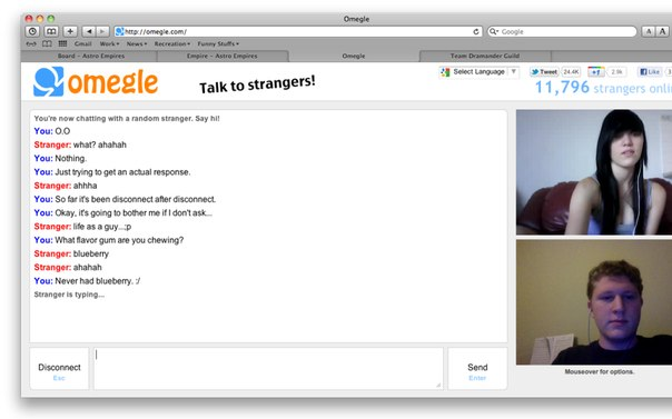 omegle talk to strangers sex and the city online