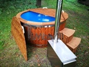 Outdoor SPA Hot Tub with external wood burner - fiberglass model