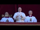 LIVE Pope Francis delivers Urbi et Orbi message from St Peters Basilica