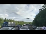 Видео посадки истребителей на трассу под Хабаровском