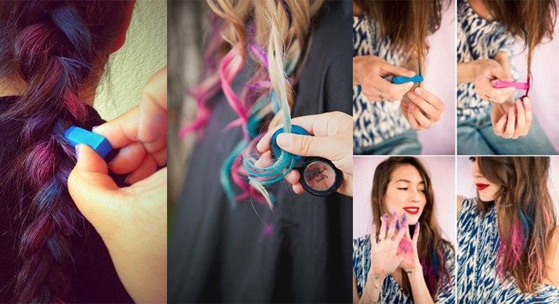 Волосы красить мелками
