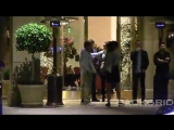 Justin and Selena Gomez at the Montage hotel in Beverly Hills, California
